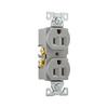 Cooper Wiring Devices 125-Volt 15-Amp Gray Duplex Electrical Outlet