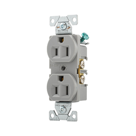 Cooper Wiring Devices 15-Amp Gray Duplex Electrical Outlet