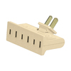 Cooper Wiring Devices Single-to-Triple Ivory 2-Wire Swivel Adapter