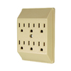 Cooper Wiring Devices 15-Amp 3-Wire Grounding Duplex-to-Six Ivory Adapter