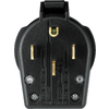 Cooper Wiring Devices 50-Amp 125/250-Volt Black 4-Wire Grounding Plug
