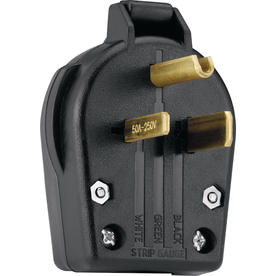Cooper Wiring Devices 50-Amp 250-Volt Black 3-Wire Plug
