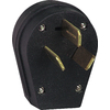 Cooper Wiring Devices 50-Amp 125/250-Volt Black 3-Wire Plug