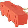 Cooper Wiring Devices 15-Amp 3-Wire Grounding Single-to-Triple Orange Adapter