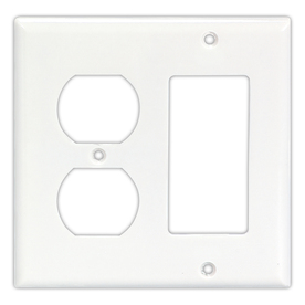 Cooper Wiring Devices 2-Gang White Wall Plate