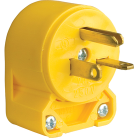 Cooper Wiring Devices 20-Amp 250-Volt Yellow 3-Wire Plug