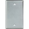 Cooper Wiring Devices 1-Gang Gray Blank Metal Wall Plate