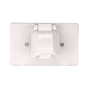 Cooper Wiring Devices Non-Metallic White 1-Outlet Weatherproof Electrical Outlet Cover