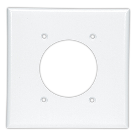 Cooper Wiring Devices 2-Gang White Single Round Wall Plate