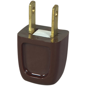 Cooper Wiring Devices 10-Amp 125-Volt Brown 2-Wire Plug