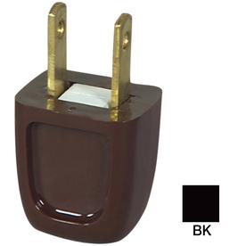 Cooper Wiring Devices 10-Amp 125-Volt Black 2-Wire Plug