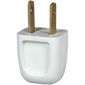 Cooper Wiring Devices 10-Amp 125-Volt White 2-Wire Plug