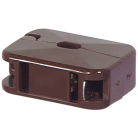 Cooper Wiring Devices 10-Amp 125-Volt Brown 2-Wire Connector