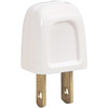 Eaton 10 Amp 125-Volt White 2-Wire Polarized Plug