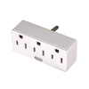 Cooper Wiring Devices 15-Amp 3-Wire Grounding Single-to-Triple White Adapter