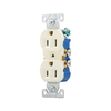 Cooper Wiring Devices 15-Amp Almond Duplex Electrical Outlet
