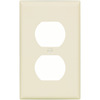 Cooper Wiring Devices 1-Gang Almond Standard Duplex Receptacle Plastic Wall Plate
