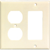 Cooper Wiring Devices 2-Gang Almond Combination Plastic Wall Plate