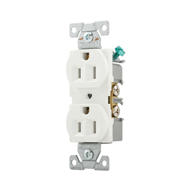 Eaton 10-Pack 15-Amp 125-Volt White Indoor Duplex Wall Outlets