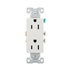 Cooper Wiring Devices 10-Pack 125-Volt 15-Amp White Decorator Duplex Electrical Outlets