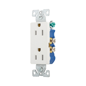 Cooper Wiring Devices on Cooper Wiring Devices 10 Pack 15 Amp White Decorator Duplex Electrical