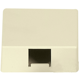 Cooper Wiring Devices 1-Gang Ivory Phone Nylon Wall Plate