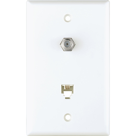 Cooper Wiring Devices 1-Gang White Wall Plate