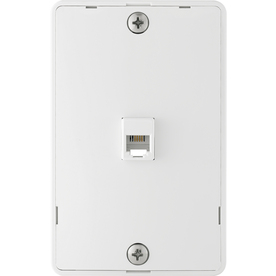 Cooper Wiring Devices 1-Gang White Phone Thermoplastic Wall Plate