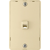 Cooper Wiring Devices 1-Gang Ivory Phone Thermoplastic Wall Plate