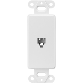Cooper Wiring Devices 1-Gang White Phone Nylon Wall Plate