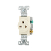 Eaton 20-Amp 250-Volt Almond Indoor Round Wall Outlet