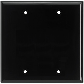 Cooper Wiring Devices 2-Gang Black Blank Nylon Wall Plate