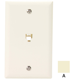 Cooper Wiring Devices 1-Gang Almond Phone Nylon Wall Plate