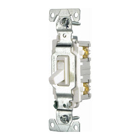 Cooper Wiring Devices 15-Amp White Light Switch CSB115W
