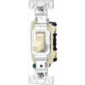 Cooper Wiring Devices 20-Amp Ivory 3-Way Light Switch