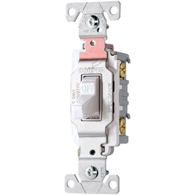 Cooper Wiring Devices 20-Amp White 3-Way Light Switch CSB320W