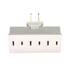 Cooper Wiring Devices 15-Amp 2-Wire Single-to-Triple White Low Profile Adapter