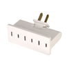 Cooper Wiring Devices Single-to-Triple White 2-Wire Low Profile Adapter