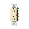 Eaton 10-Pack 15-Amp 125-Volt Almond Indoor Decorator Wall Outlets