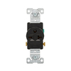 Cooper Wiring Devices 250-Volt 20-Amp Black Single Electrical Outlet