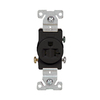 Cooper Wiring Devices 125-Volt 20-Amp Black Single Electrical Outlet