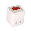 Cooper Wiring Devices 15-Amp 2-Wire Single-to-Single White Adapter