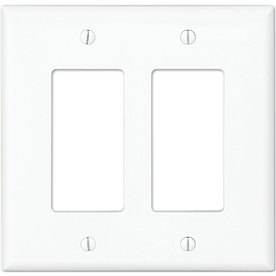 Eaton 2-Gang White Double Decorator Wall Plate