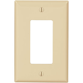 Cooper Wiring Devices 1-Gang Ivory GFCI Polycarbonate Wall Plate