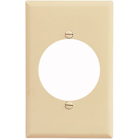 Eaton 1-Gang Ivory Single Round Wall Plate