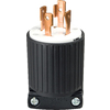 Cooper Wiring Devices 30-Amp 250-Volt Black 4-Wire Plug