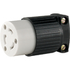 Cooper Wiring Devices 20-Amp 125-Volt Black 3-Wire Grounding Connector