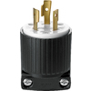 Cooper Wiring Devices 20-Amp 250-Volt Black 3-Wire Plug