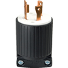 Cooper Wiring Devices 30-Amp 250-Volt Black 3-Wire Plug