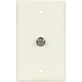 Cooper Wiring Devices 1-Gang Light Almond Coaxial Nylon Wall Plate